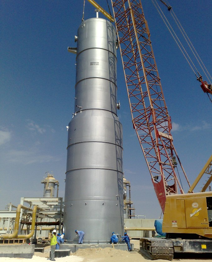 Sea Water Deaerator Under Installation