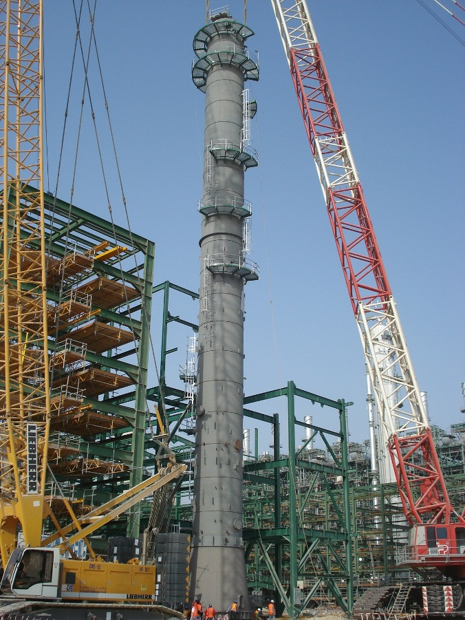 LP De-Ethanizer Column Under Erection